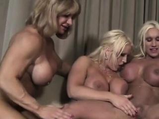 3 Meat Lesbians Fuck Around