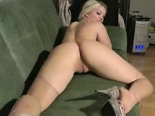 Huge booty blond bird beside..