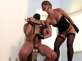Milf tortures stud by tall..