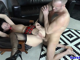 Gagged milf assfucked deeply