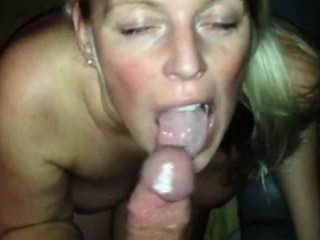Tow-haired milf housewife..