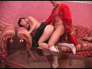 Russian mature MILF gives..