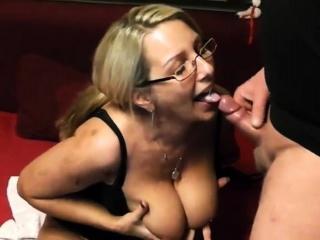 Big tits exgf facial
