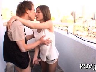 Youthful hottie gets groped..