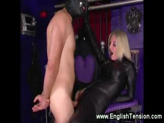 Dominatrix controlling her..