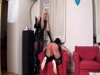 Nylon Girls spanks slaves