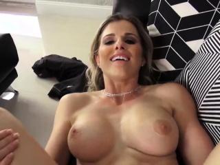Blonde milf big boobs wipe..