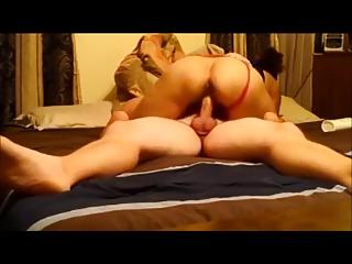 Amateur curvy wife riding on..