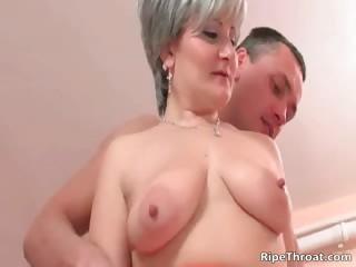 Big boobed nasty blonde MILF..