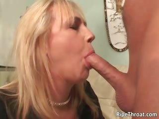 Nasty big boobed blonde MILF..