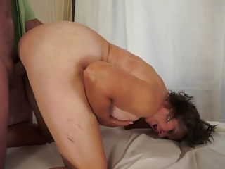 Watch her milk big cock and..