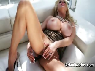 Busty blonde babe goes crazy..