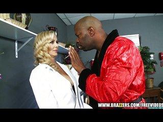 Busty blonde doctor Julia..