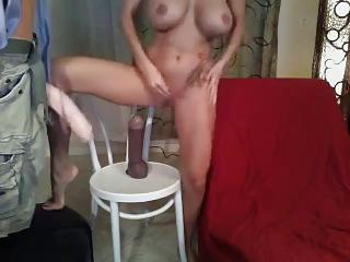 horny cougar woman dildo show