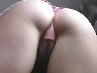Tow-headed milf pink panties..