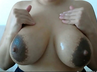 Milf's fat breasts..