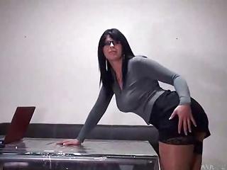 Hot secretary with glasses..