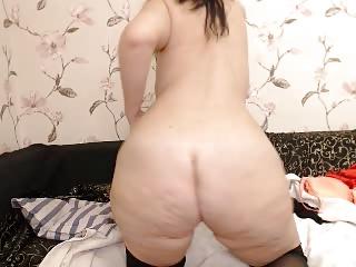 curvy beamy ass milf with..