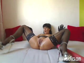 Bizarre huge pussy insertions