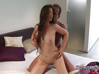 Fresh mom gets hairy cunt..