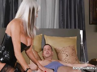 Anal sex with busty 60yrs..