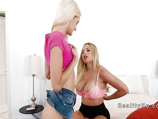 Huge tits step mom dominates..