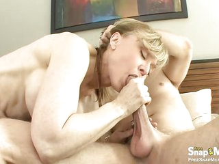 Hot Blonde Lady Enjoys And..