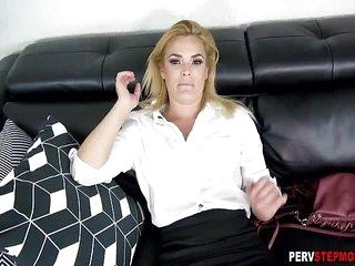 Horny tired MILF stepmom..