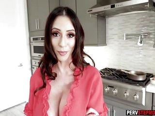 Horny busty MILF stepmom..
