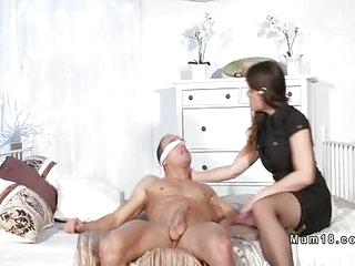 Blindfolded dude licks..