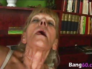 Stud drills granny's hairy..