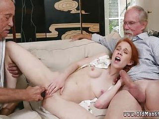 Old grandpa creampie young..