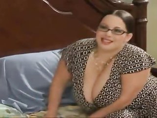 Chubby stepmom seduces her..