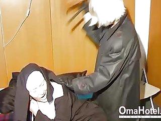 OmaHoteL Horny Granny Nun..