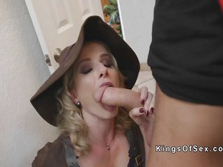 A Blonde witch Milf bang..