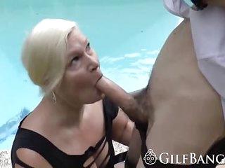 Granny gets all holes fucked..