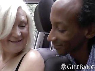 Black guy fucks hot granny..