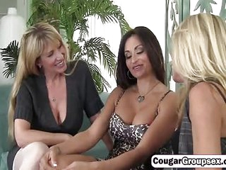 3 Delicious cougars seduced..