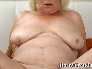 Gran with big saggy tits..