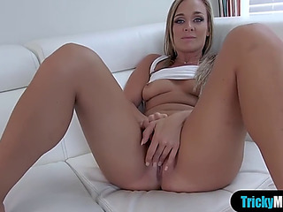 Breasty stepmom shows ger..