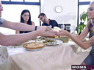 Mom Fucks Son & Eats..