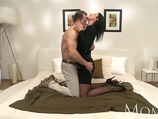 MOM Horny MILF makes her man..