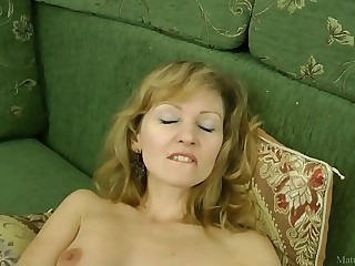 Sexy mom in stockings..