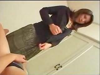 Japanese mom teaches son..