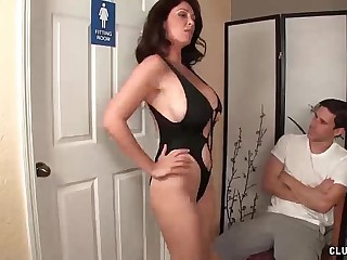 Angry step-mom jerking the..