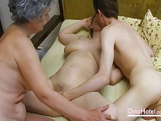 OmaHoteL Old Threesome Hairy..