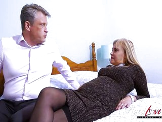 Aged Mature Busty Blonde..