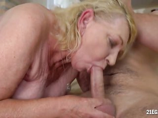 Hairy Blonde Mature Gets..
