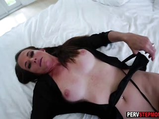 Mature stepmom takes a..
