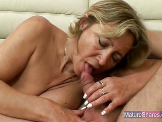 Busty Mature Blonde Fucked..